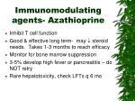 immunomodulating agents azathioprine