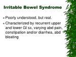 irritable bowel syndrome1