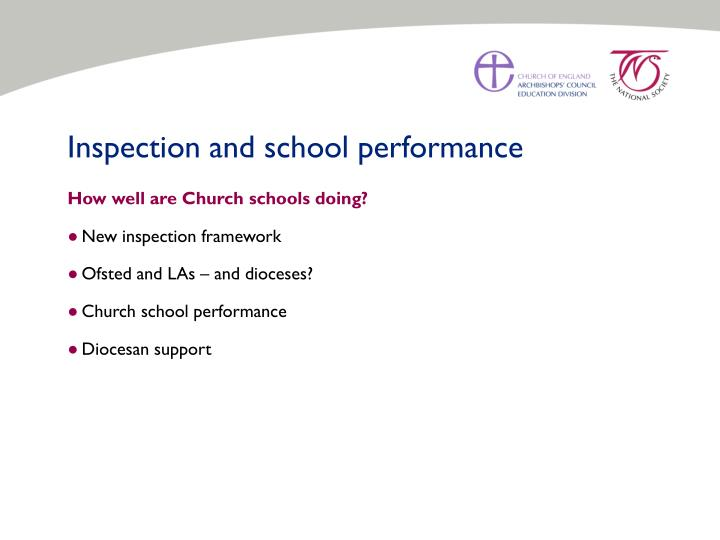 Inspection and school performance