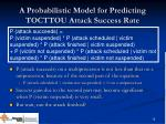 a probabilistic model for predicting tocttou attack success rate