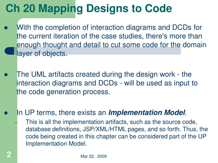 Ch 20 mapping designs to code