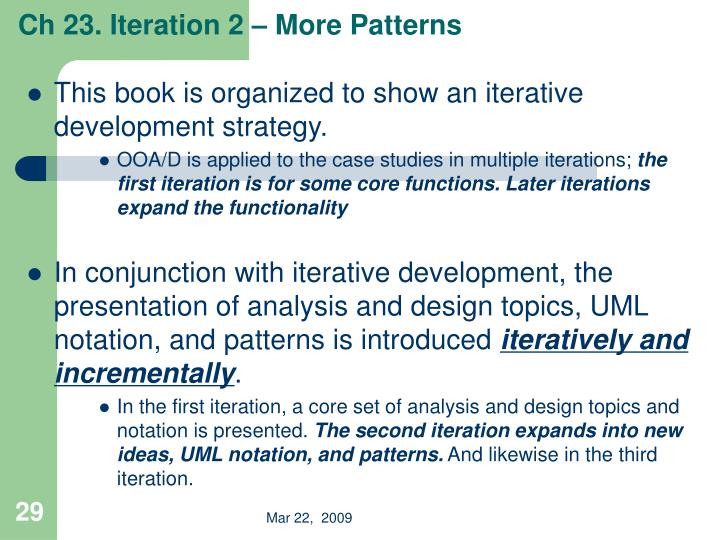 Ch 23. Iteration 2 – More Patterns