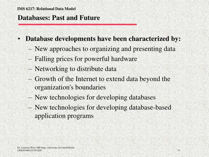 Databases: Past and Future