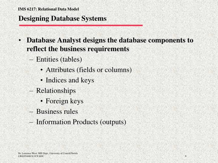 Designing Database Systems