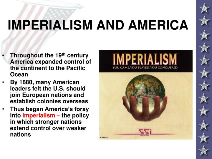 moral implications of american imperialism American imperialism - imperialism, defined by merriam-webster's online dictionary, is the policy, practice, or advocacy of extending power and dominion of a nation especially by direct territorial acquisition or by gaining indirect control over the political or economic life of other areas(merriam-webster.