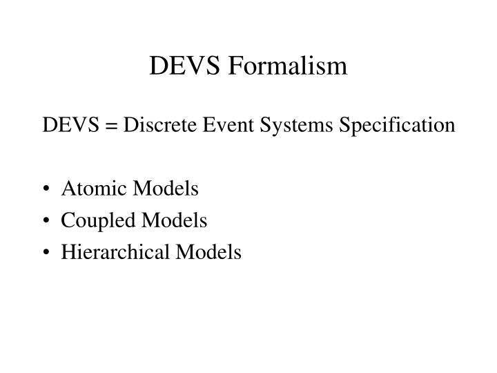 Devs formalism