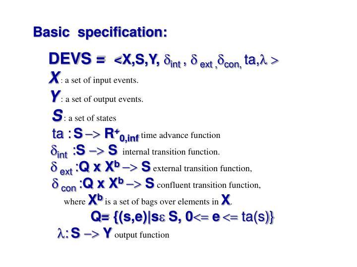 Basic  specification: