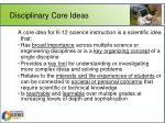 disciplinary core ideas