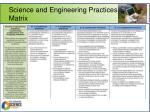 science and engineering practices matrix