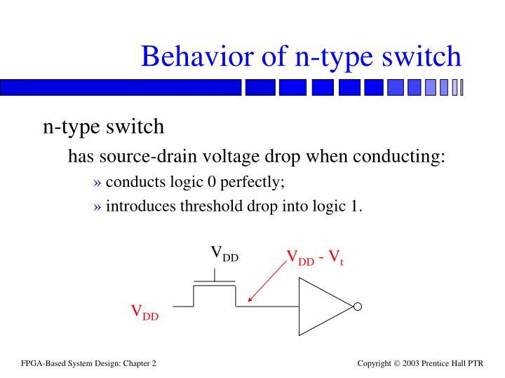 Behavior of n-type switch