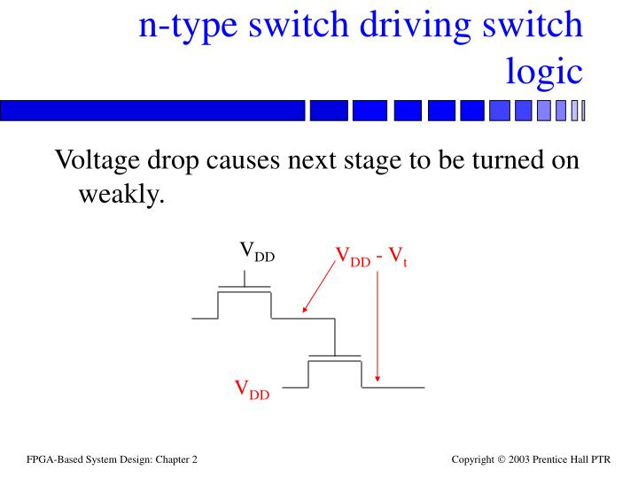 n-type switch driving switch logic