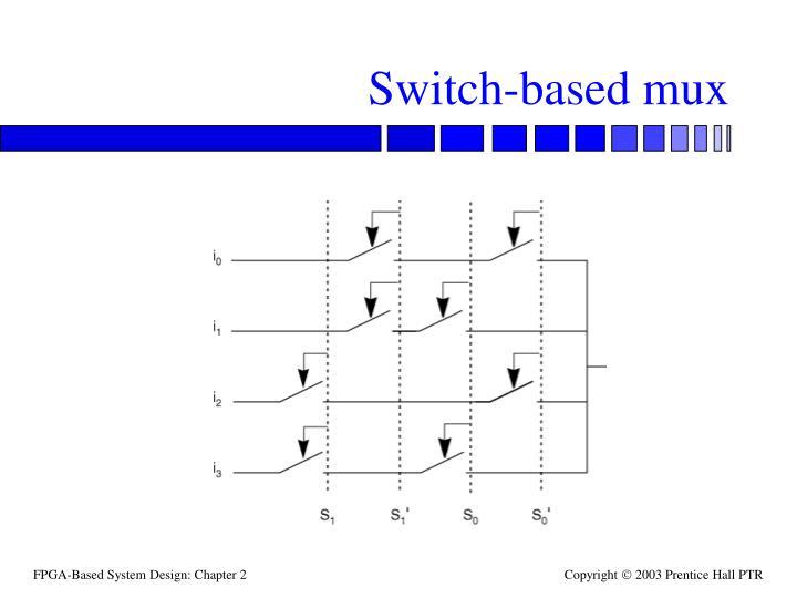 Switch-based mux