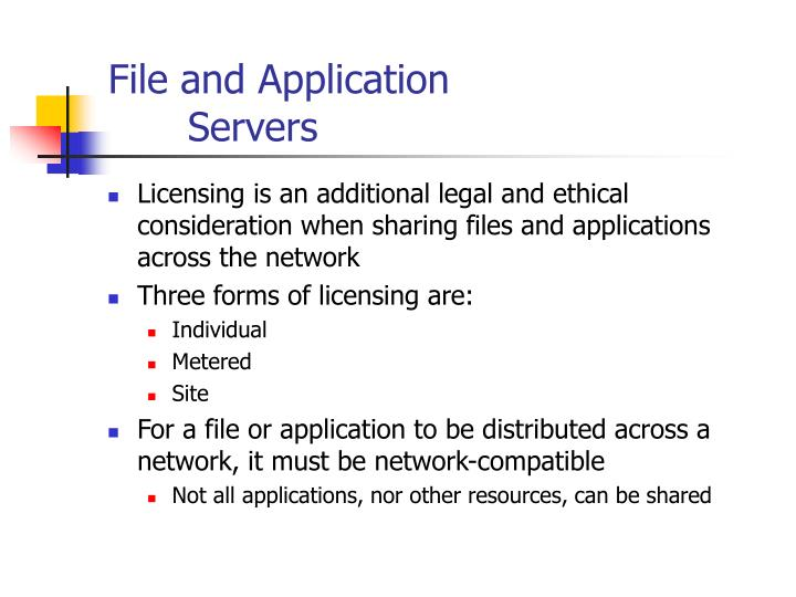 File and Application
