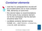 container elements