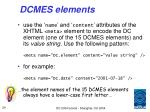 dcmes elements