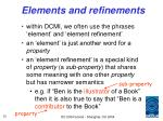 elements and refinements