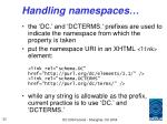 handling namespaces