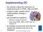 implementing dc