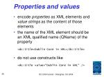 properties and values