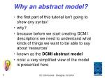 why an abstract model