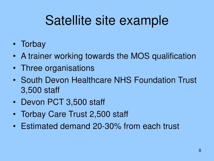 Satellite site example