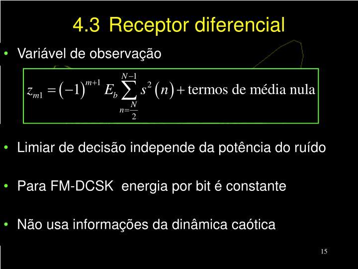 4.3Receptor diferencial