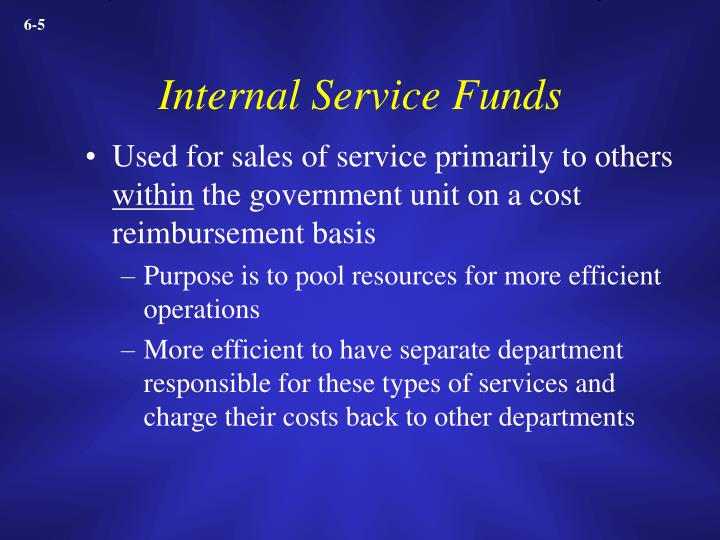 Internal Service Funds