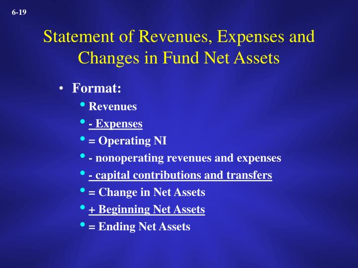 Statement of Revenues, Expenses and Changes in Fund Net Assets