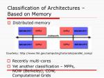 classification of architectures based on memory1