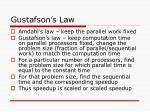 gustafson s law
