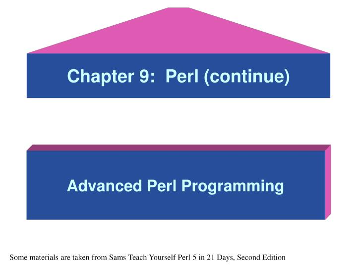 Chapter 9 perl continue