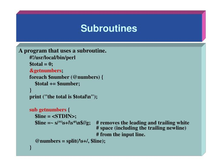 Subroutines