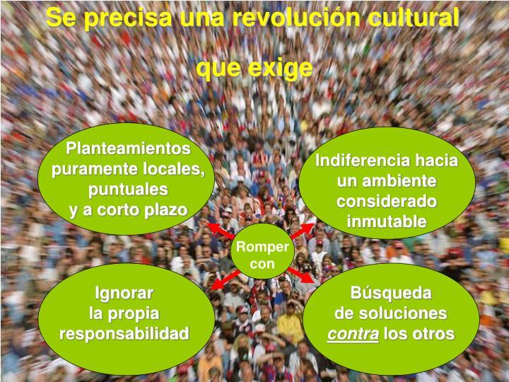 Se precisa una revolución cultural