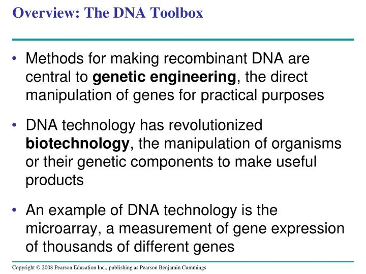 Overview the dna toolbox1
