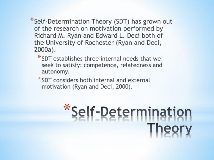 PPT - Self-Determination Theory PowerPoint Presentation - ID