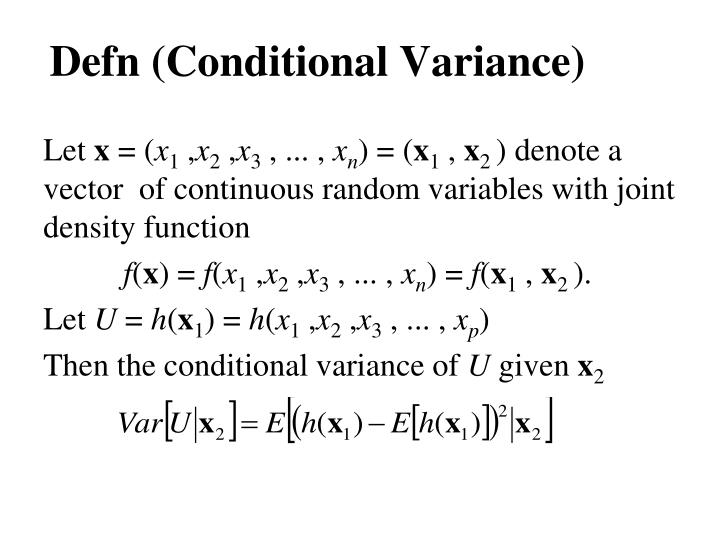 Defn (Conditional Variance)