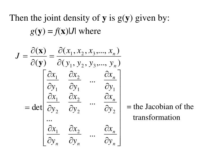 Then the joint density of
