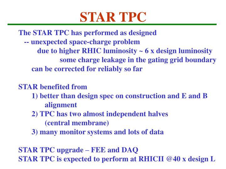 STAR TPC