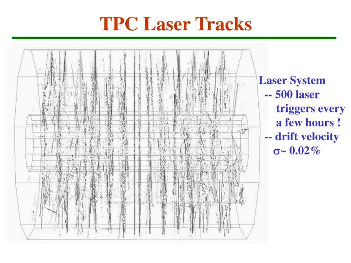 TPC Laser Tracks