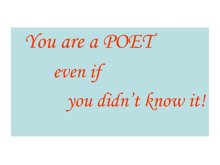 You are a POET