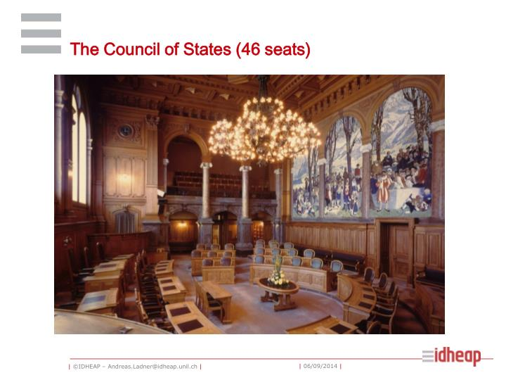 The Council of States (46 seats)