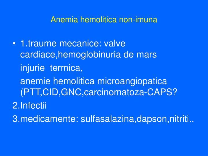 Anemia hemolitica non-imuna