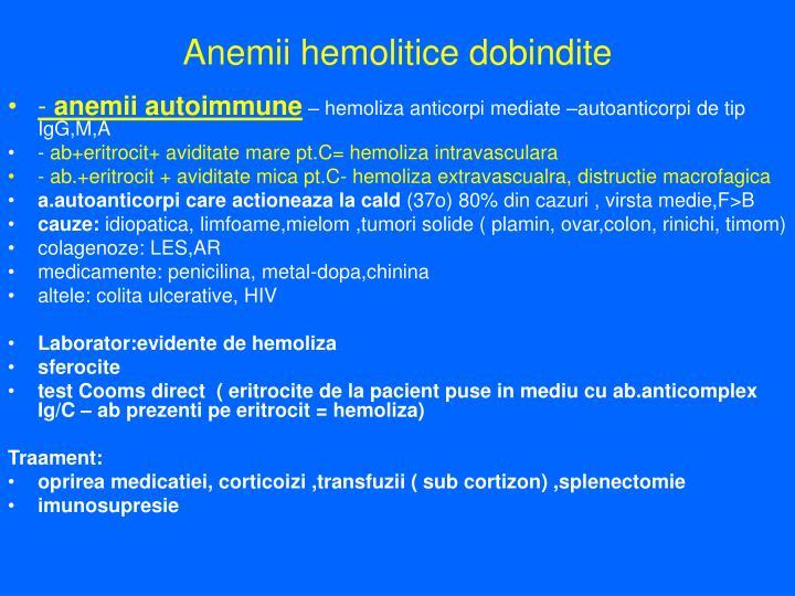 Anemii hemolitice dobindite
