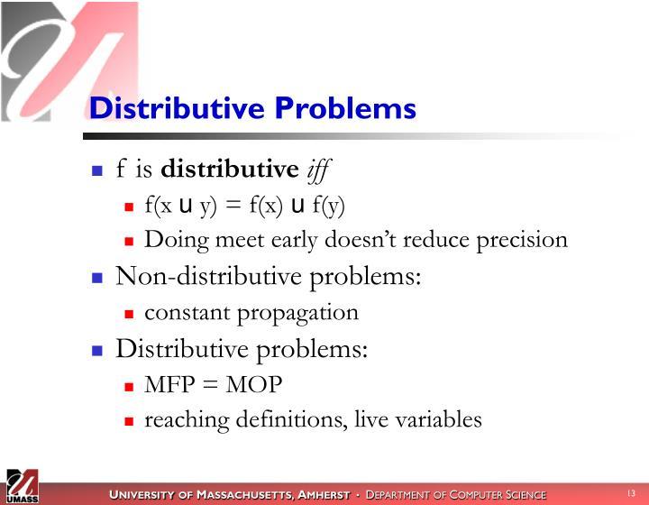 Distributive Problems