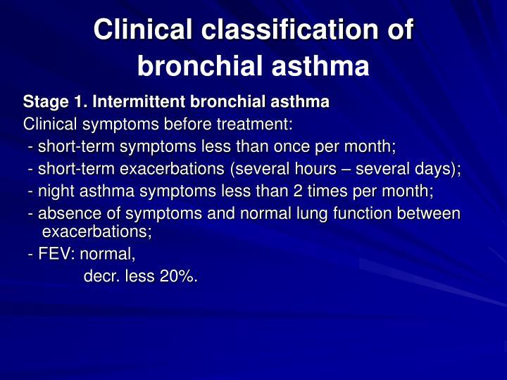 Clinical classification of
