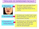 tipolog a de expresiones faciales