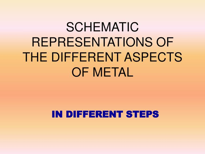 schematic representations of the different aspects of metal n.