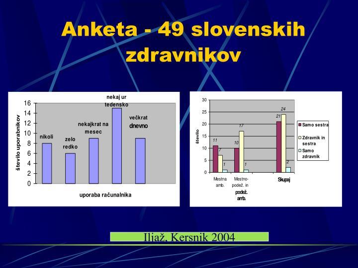 Anketa - 49 slovenskih zdravnikov