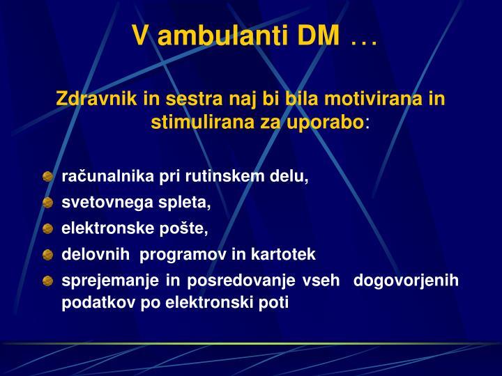 V ambulanti DM