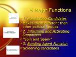 5 major functions